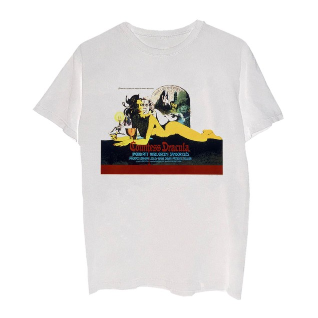 Merch Traffic Men's Horror Of Dracula Graphic T-Shirt White Size XX-Large