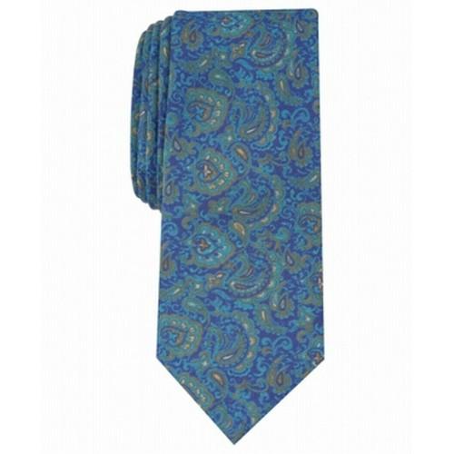 Bar III Men's Stewart Skinny Paisley Tie Blue Size Regular