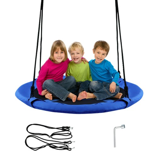 40'' Flying Saucer Tree Swing Indoor Outdoor Play