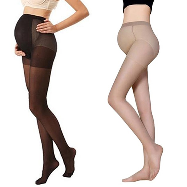 Pregnant Women's Silky Stockings Pantyhose Stretchy Tights One Size