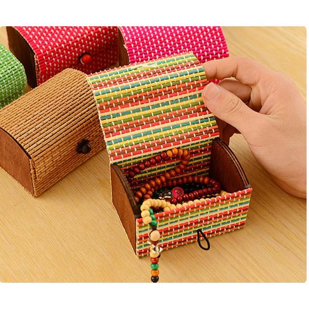 Large Capacity Creative Bamboo Storage Box Soap Box Jewelry Box