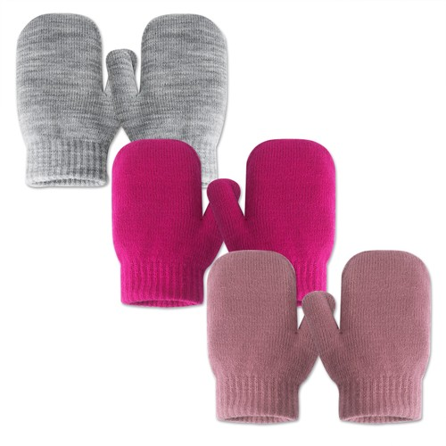 3-Pairs EvridWear Infant Thermal Stretch Knitted Mittens for Kids