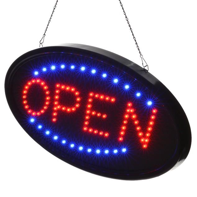 Agptek® LED OPEN Sign Electric Billboard Bright Advertising Board
