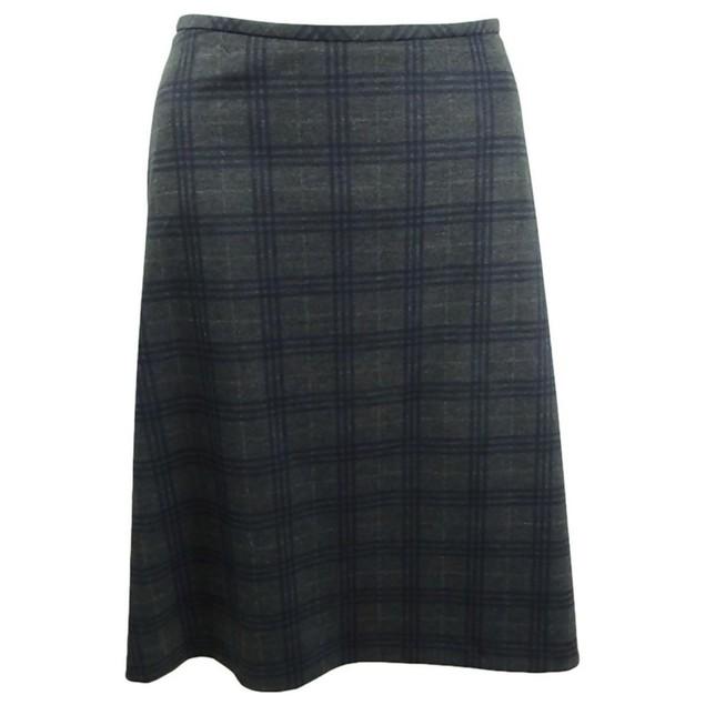 Calvin Klein Women's Plaid A-Line Skirt 6 Navy Multi All Blue Size 6