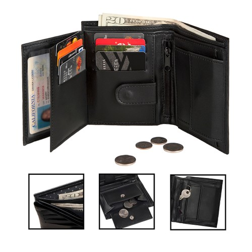 20-POCKET Organization Wallet with RFID - BLOCKING Identity Protection