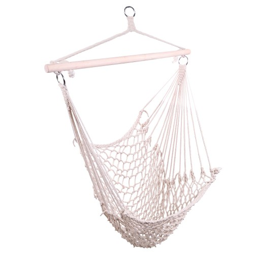 2-Pack Cotton Hanging Rope Air/Sky Chair Swing Beige