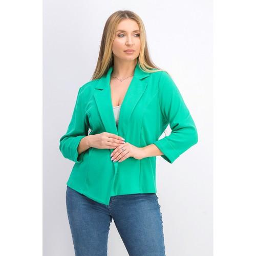 Maison Jules Women's 3/4 Sleeve Knit Blazer  Dark Green Size Small