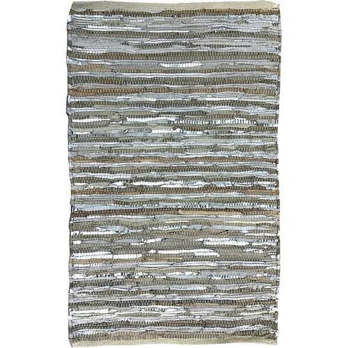 Carpet Handmade Leather Striped Modern 2x3  Area Rug for Bedroom Room