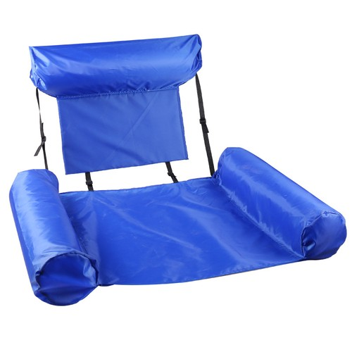 Foldable Water Back Recliner Floating Bed Inflatable Swimming Ring Hammock Floating Row