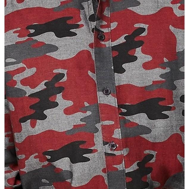American Rag Men's Camo Shirt Red Size Small