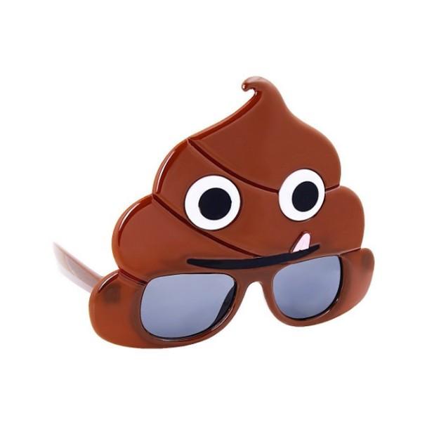 Poop Emoji Sunstache Sunglasses Emoticon Shades Novelty Glasses Poo Crap