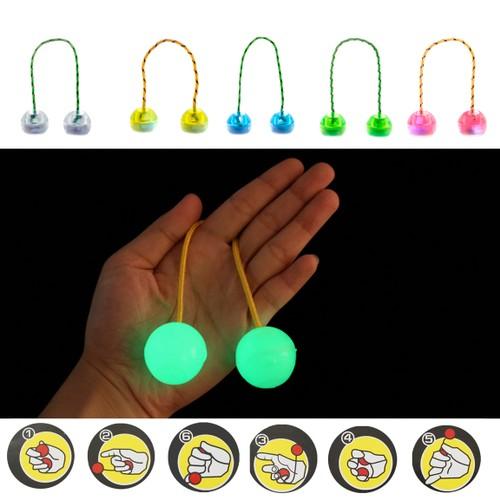 LED Finger Fidget Ball Nun chucks Anti Stress