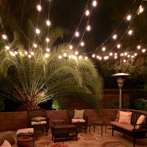 Costway 96FT LED Outdoor Waterproof Commercial Grade Patio Globe String Lig