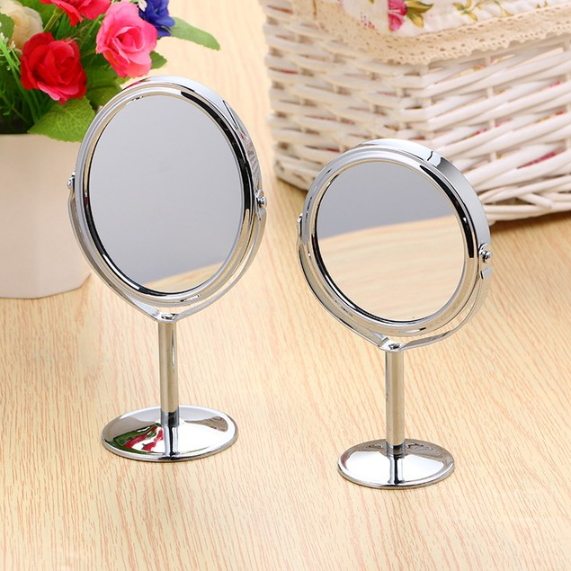 Desktop 1:2 Magnification Function Vanity Mirror Can Rotate On Both Sides