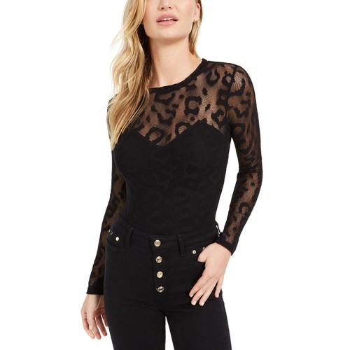 Guess Women's Leona Bodysuit Black Size Medium