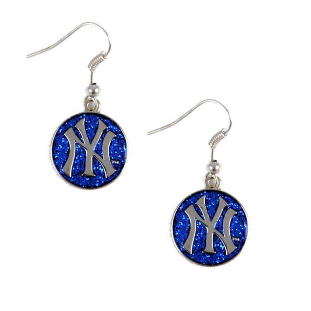 New York Yankees Glitter Sparkle Dangle Logo Earring Set Charm Gift MLB