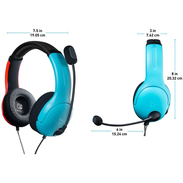 LVL40 Wired Headset Blue and Red for Nintendo Switch
