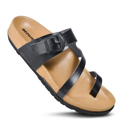 AEROSOFT Dart Casual Fashion Comfortable Strap Slip On Sandals for Women