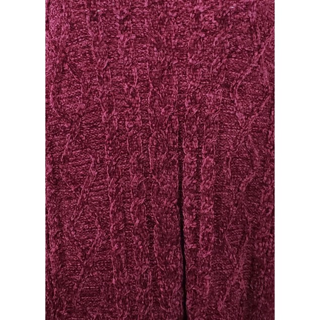 Karen Scott Women's Cable-Knit Chenille Sweater Red Size Small