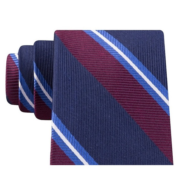 Tommy Hilfiger Men's Village Classic Stripe Tie Blue Size Regular