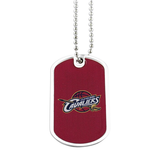 NBA Cleveland Cavaliers Dog Tag Necklace Charm Chain