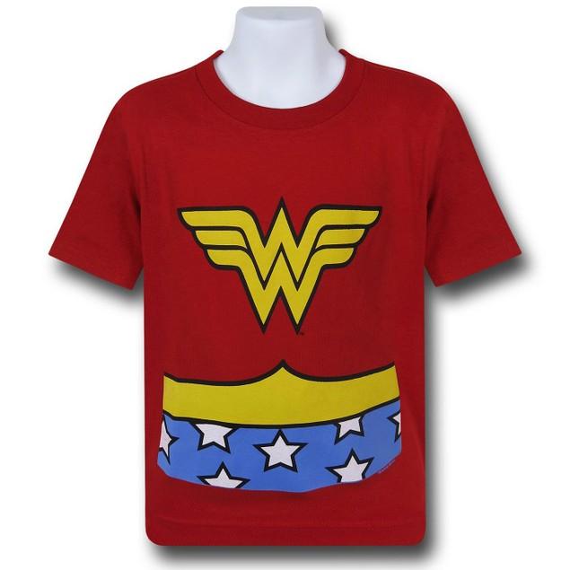 Wonder Woman Classic Costume Kids T-Shirt
