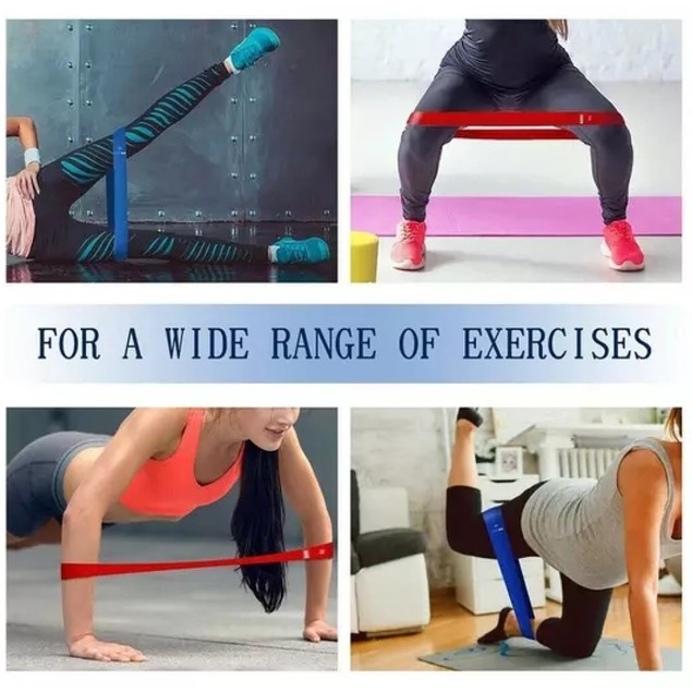 5 PCS Resistance Fitness Training Bands Stretch Exercise Workout Bands Set