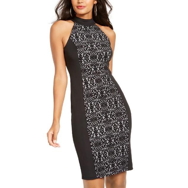Thalia Sodi Women's Mockneck Sheath Dress Black Size Medium