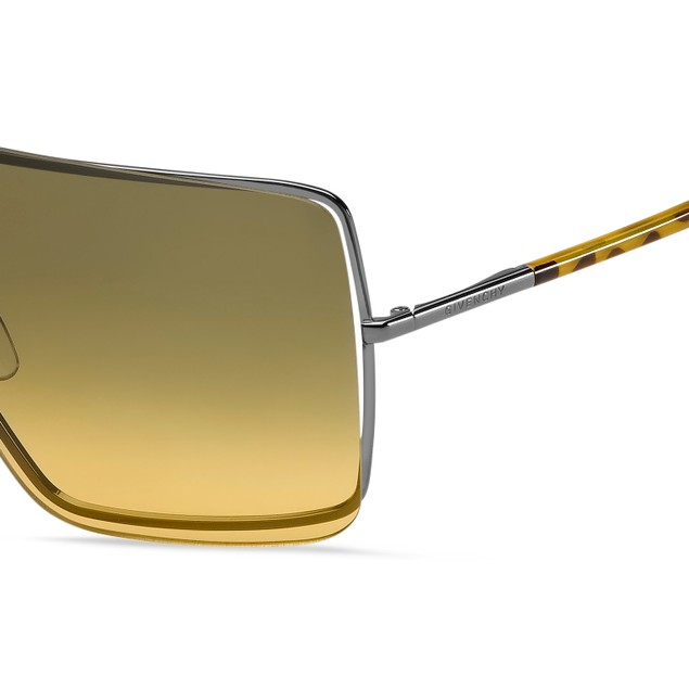 Givenchy Women Sunglasses GV7167S EV0 Ruthenium Yellow 99 1 130 Rectangle