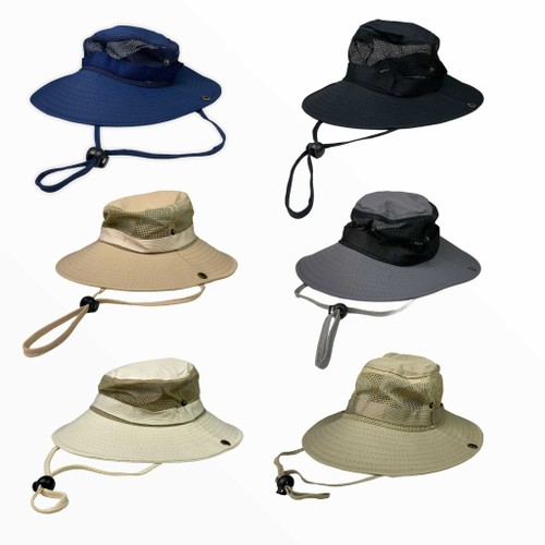 Full Brim Vented Yard / Outdoors / Fishing Hat- Assorted