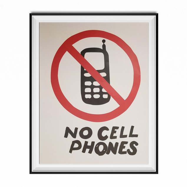 No Cell Phones Luke's Diner Poster 11 x 17