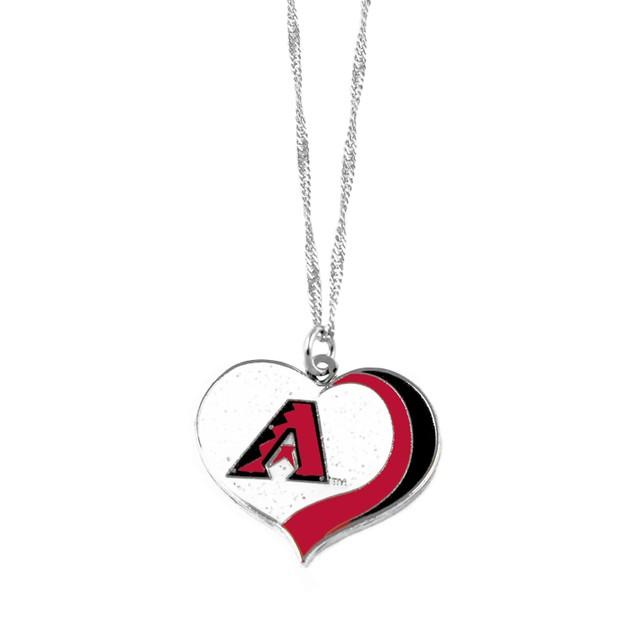 Arizona Diamondbacks MLB Glitter Heart Necklace Charm Gift