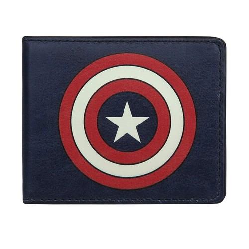 Captain America Shield Navy Bi-Fold Wallet