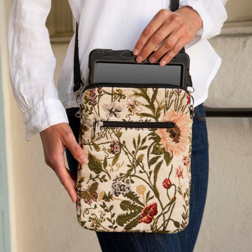 Tapestry Crossbody Shabby Chic eReader/Tablet/iPad Protective Carry Case