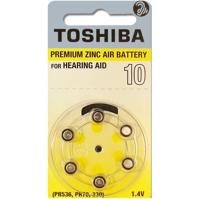 Toshiba Size 10 Zinc Air Hearing Aid Batteries (60 pack)