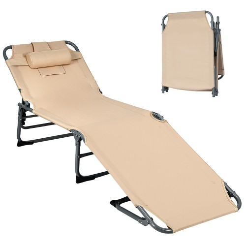 Foldable Lounge Chair Adjustable Folding Recliner