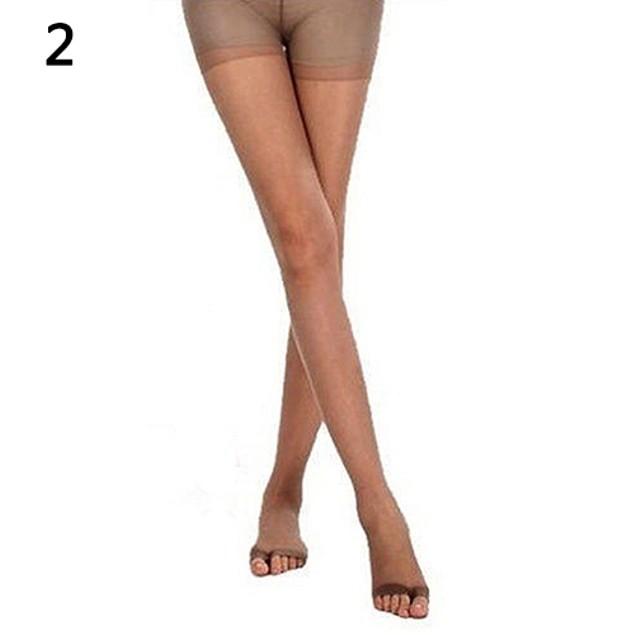 Women Open Toe Sheer Ultra-Thin Stretch Elastic Pantyhose One Size