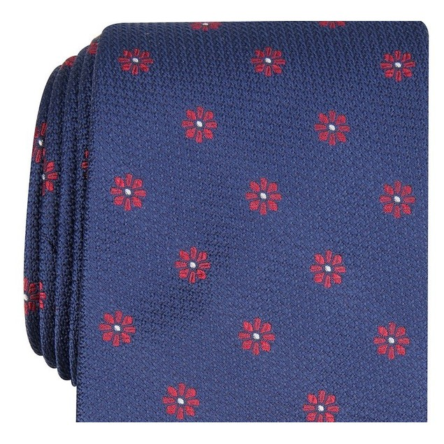 Club Room Men's Floral Tie Navy Size Regular