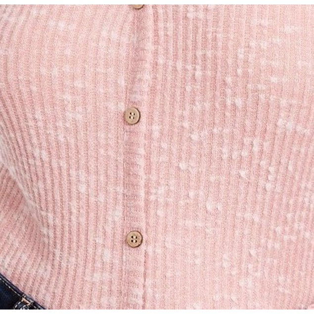 Crave Fame Juniors' Cozy Rib-Knit Top Pink Size Large