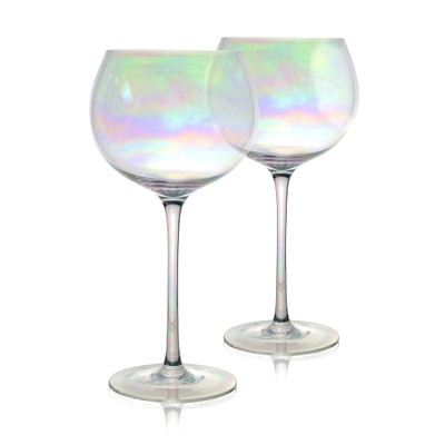 MandW Set of 2 Iridescent Gin Glass