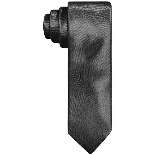 Tallia Men's Slim Charcoal Textured Tubular Tie Gray Once Size