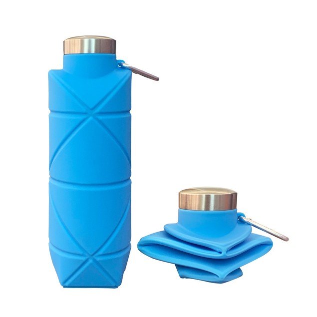 Rhombus Silicone Folding Pocket Cup 700ml Outdoor Sports Portable Water Bottle