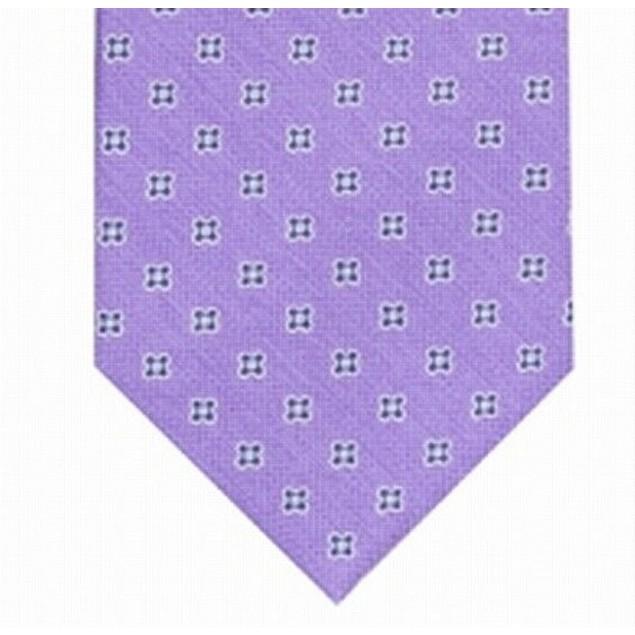 Club Room Men's Classic Floral Neat Tie Purple Size Regular