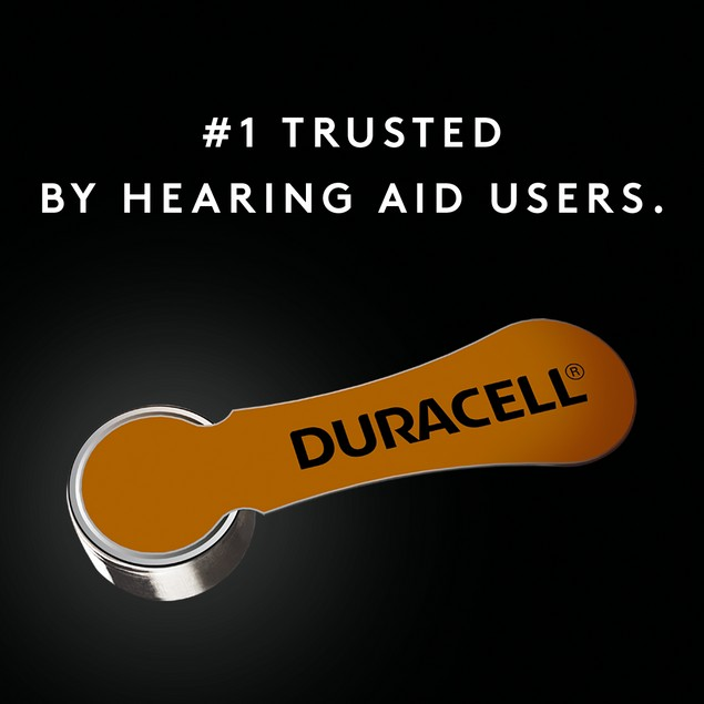 Duracell Activair Long Lasting Hearing Aid Batteries w/ Easy Fit Tab, Pack