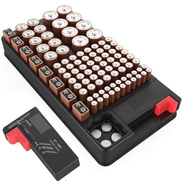 ZeroDark Battery Organizer Storage Case with Removable Battery Tester