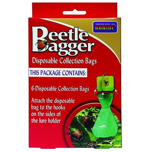Bonide Japanese Beetle Bagger Disposable Collection Bags, Pack of 6