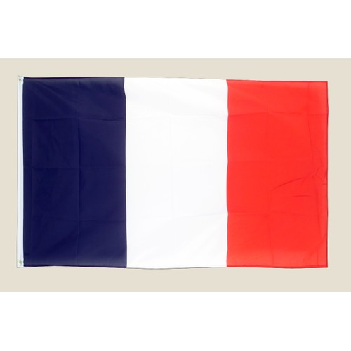France 3x5 Flag Blue White Red Polyester 2 Brass Grommets Country French