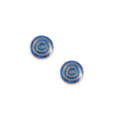 Chicago Cubs Glitter Sparkle Post Stud Logo Earring Set Charm Gift