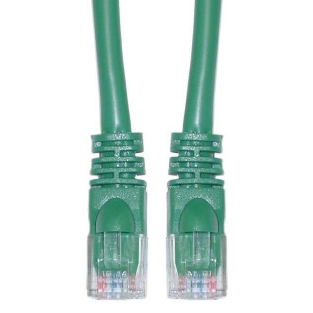Cat5e Green Ethernet Patch Cable, Snagless/Molded Boot, 35 foot