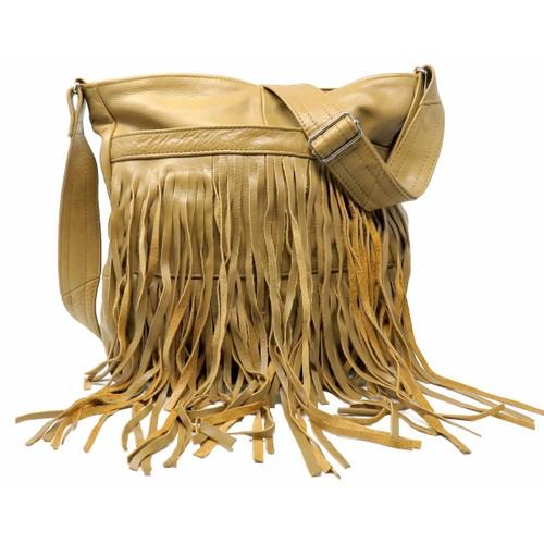 Deluxe Front-Fringed Messenger Bag